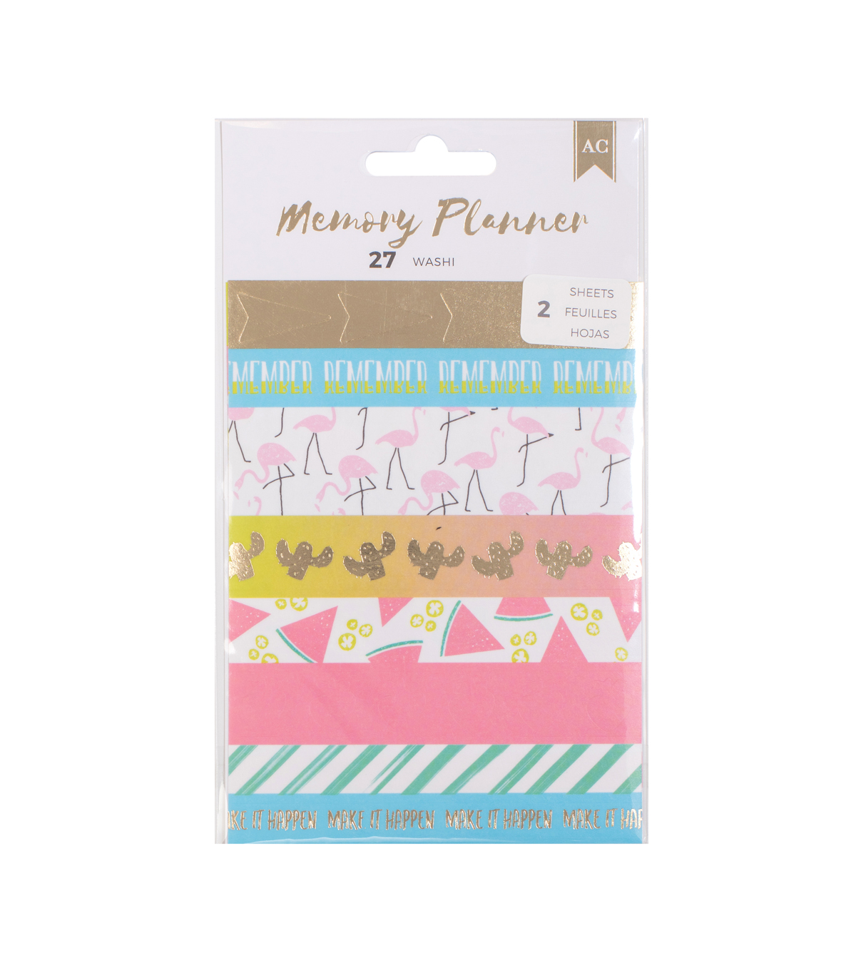 American Crafts 27 Pack Memory Planner Washi Stickers