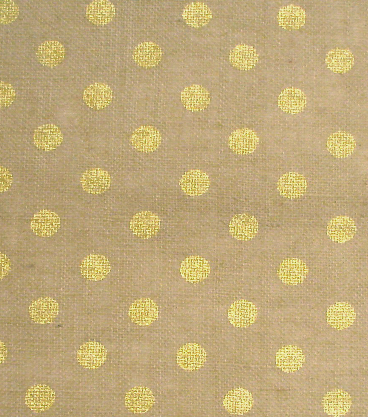 Metallic Gold Dot Burlap Fabric