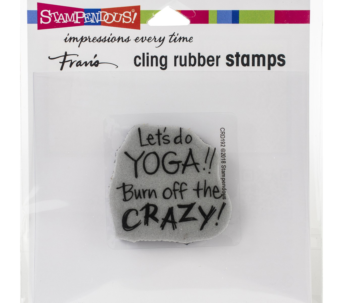 Stampendous Cling Stamps-Yoga Crazy