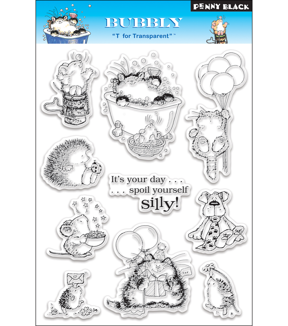 Penny Black Clear Stamps 5\u0022X7.5\u0022 Sheet-Bubbly