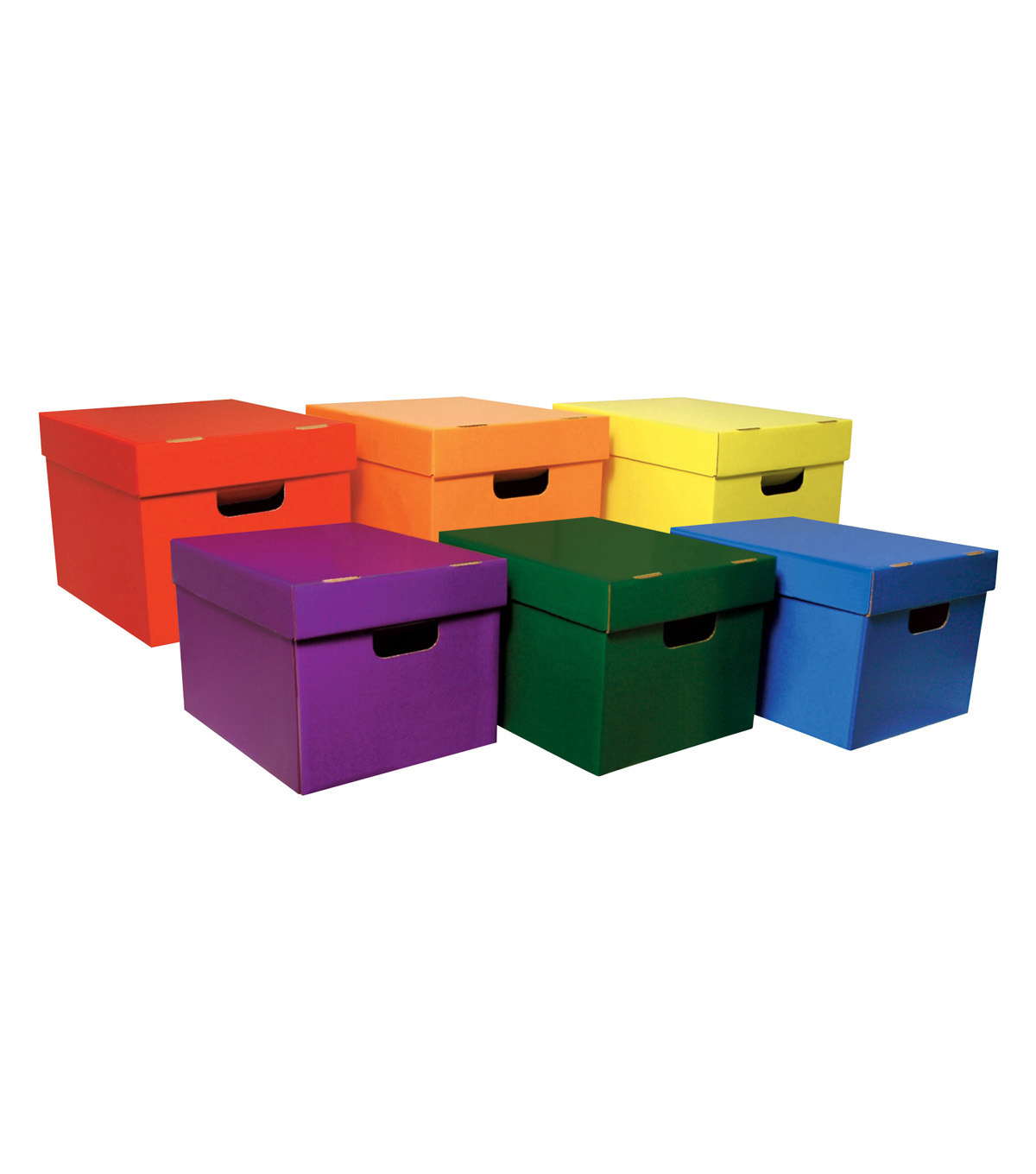 Classroom Keepers Storage Totes, 6 Assorted Colors, Pack of 6