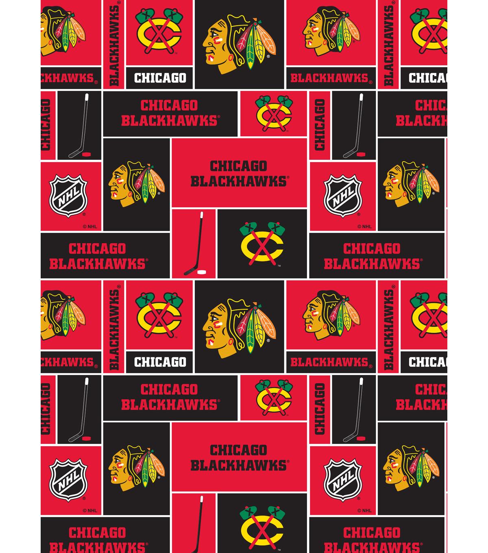 on sale 1f5c3 de5a2 Chicago Blackhawks Cotton Fabric -Block