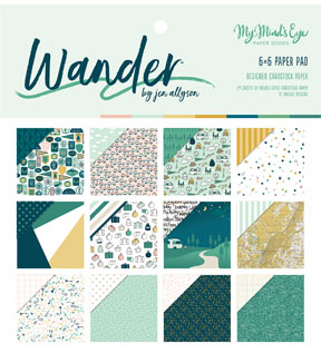 My Mind\u0027s Eye Wander 24-sheets 6\u0027\u0027x6\u0027\u0027 Double-Sided Paper Pad
