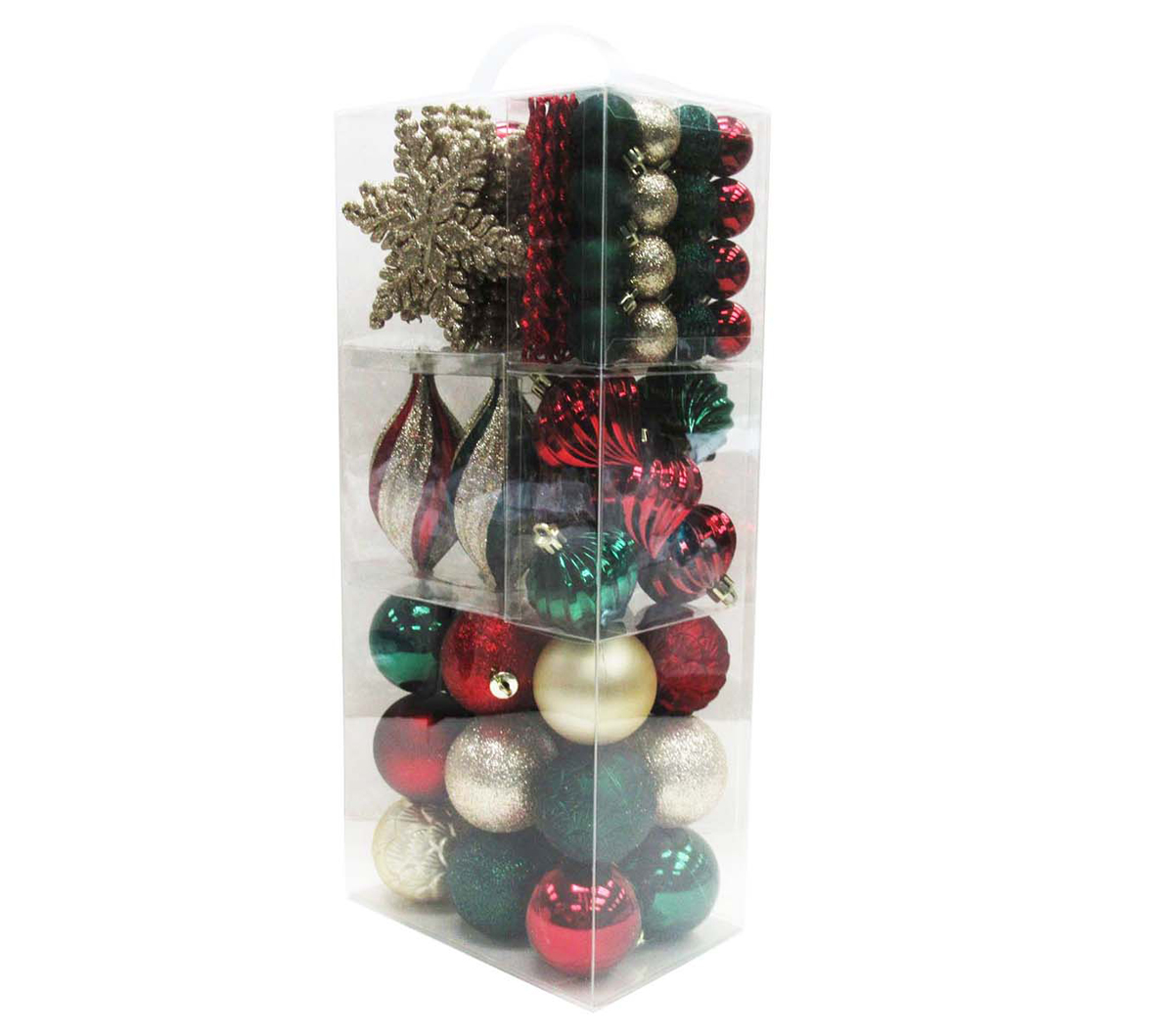 Handmade Holiday Christmas Alpine Lodge 76 pk Ornaments in Suitcase