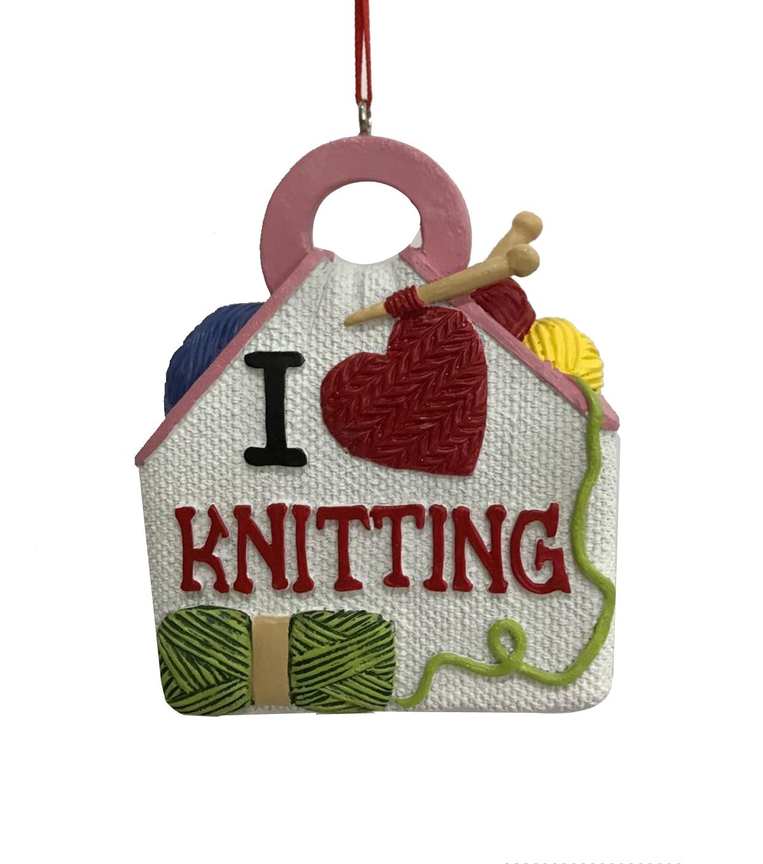 Maker\'s Holiday Christmas Ornament-I Heart Knitting | JOANN
