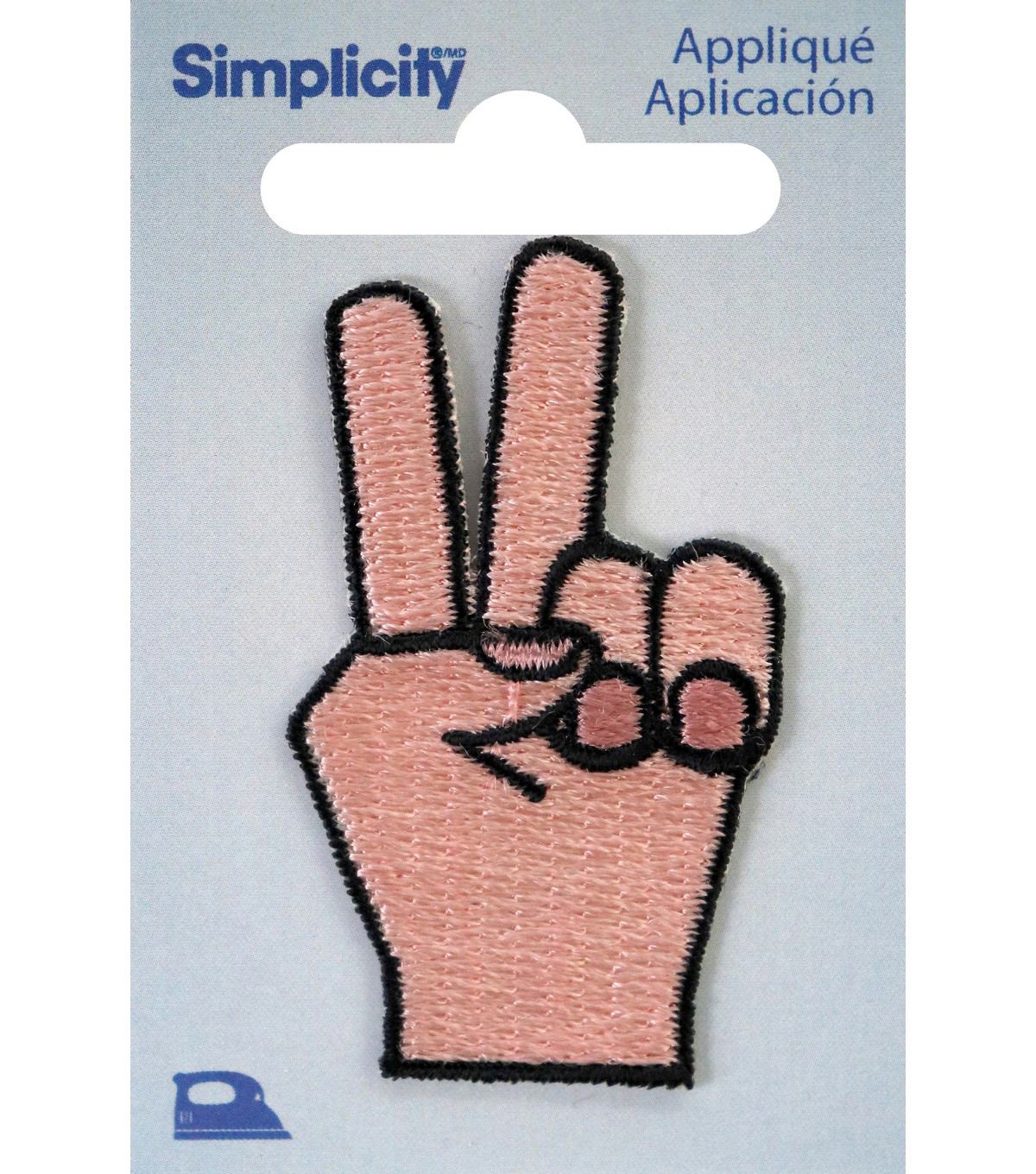 Simplicity Hand with Peace Sign Iron-on Applique