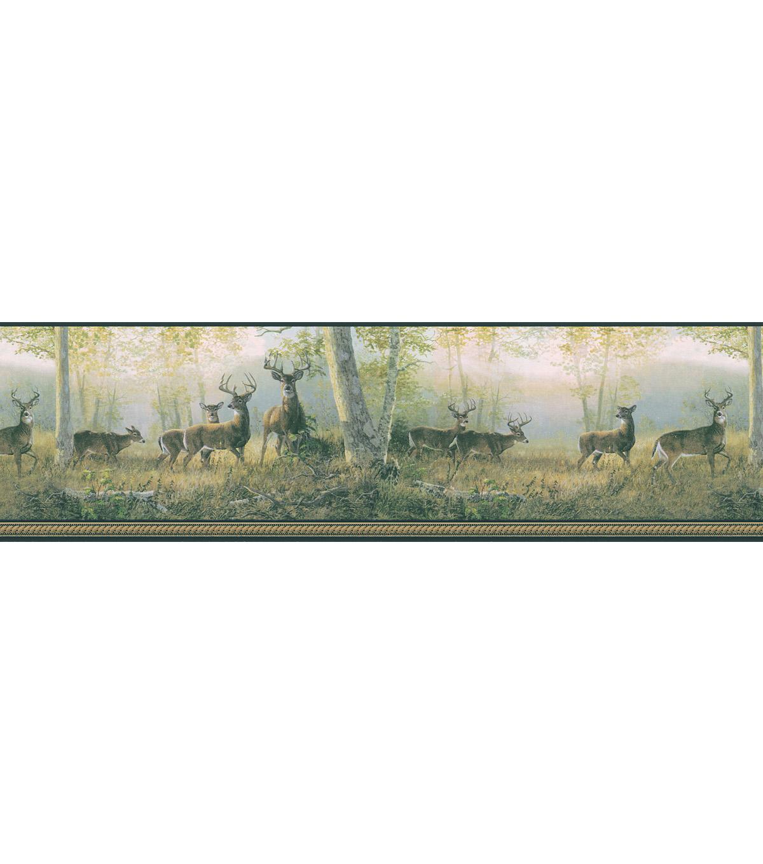 Running Black Deer Wallpaper Border