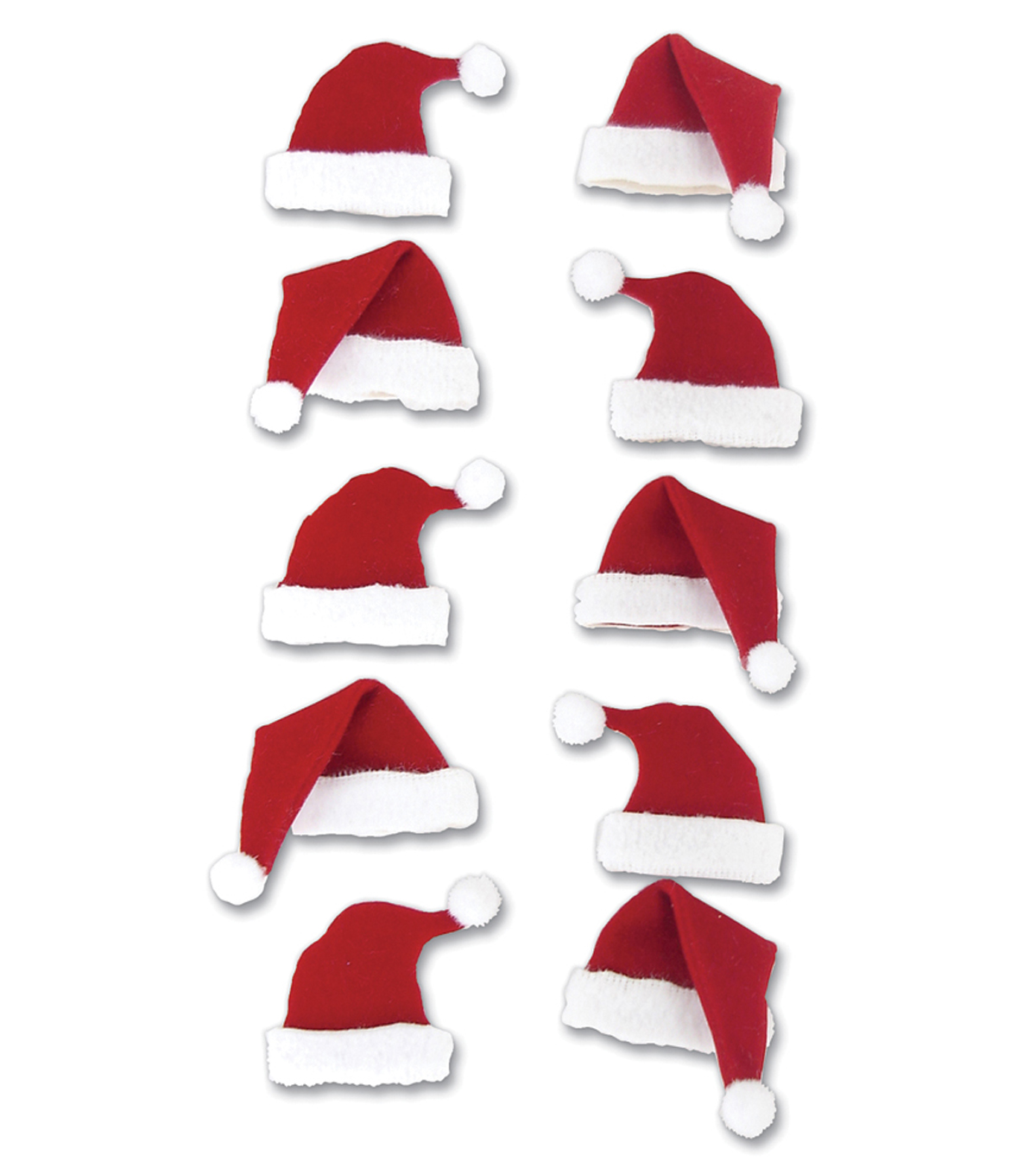 Jolee\u0027s Boutique Le Grande 10 pk Dimensional Stickers-Santa Hats