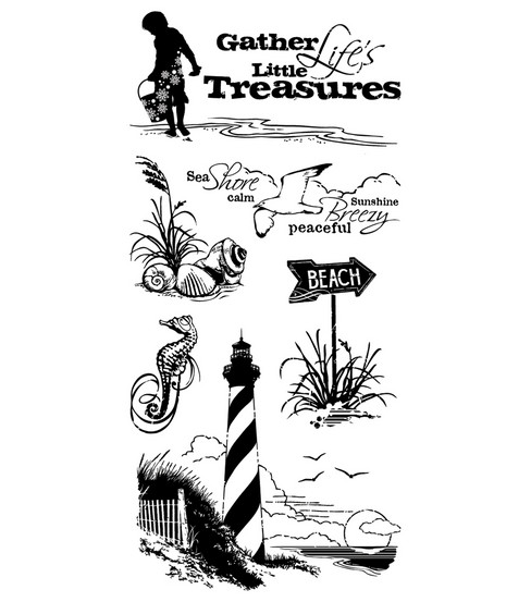 Inkadinkado Clear Stamps-Down By The Seaside