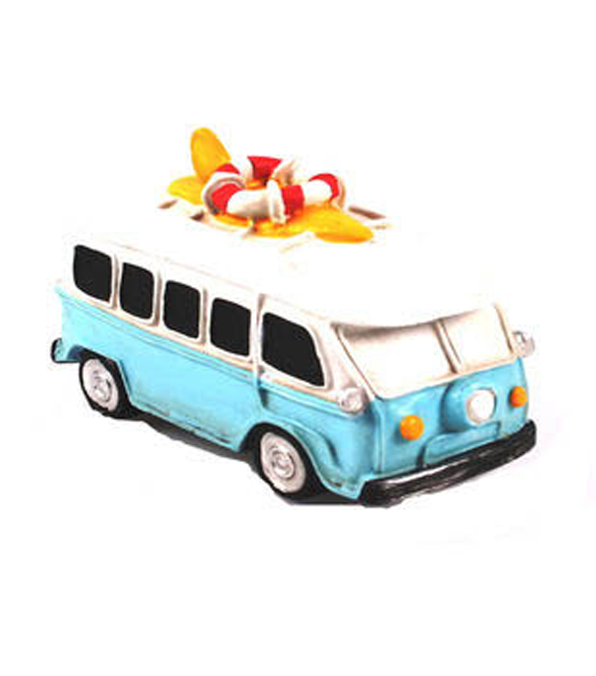 Fairy Garden Resin Bus With Surfboard