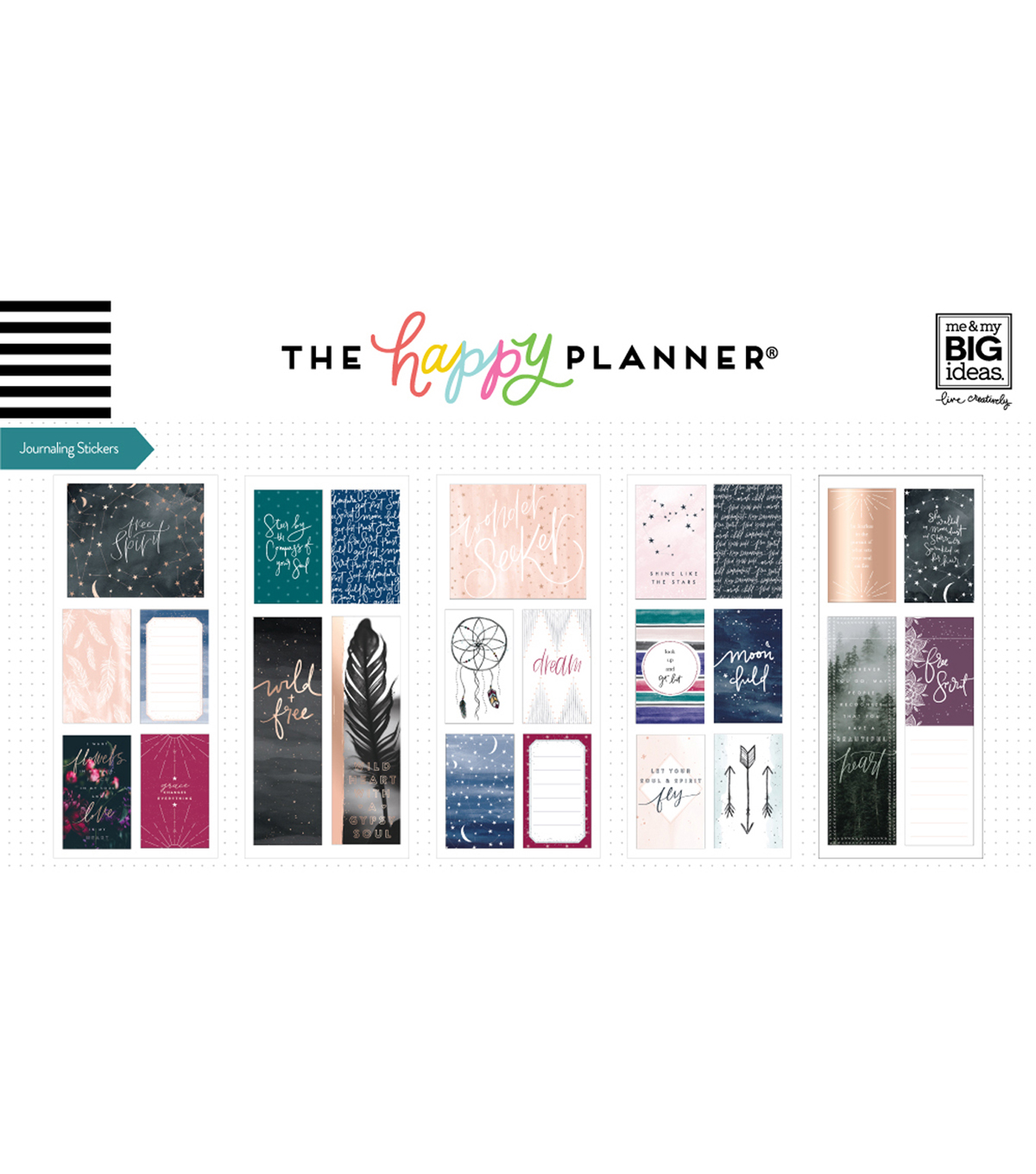 The Happy Planner 24 pk Journaling Stickers-Free Spirit