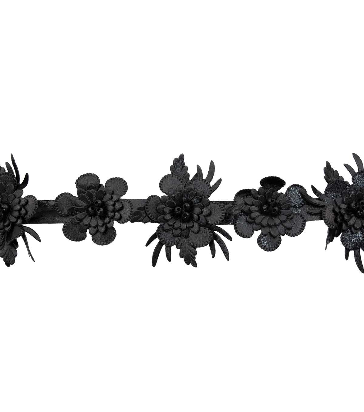 Yaya Han Black Feather Flower Cosplay Trim with Beads