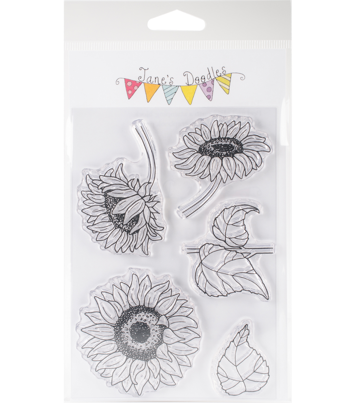 Jane\u0027s Doodles 5 pk Clear Stamps-Sunflowers