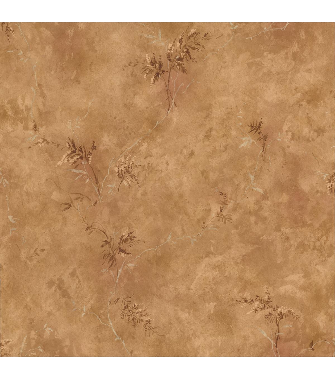 Bertrand Light Brown Satin Fern Texture Wallpaper