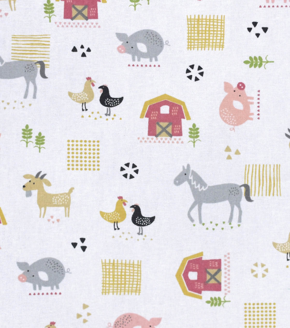 Nursery Cotton Fabric -Farm All Over