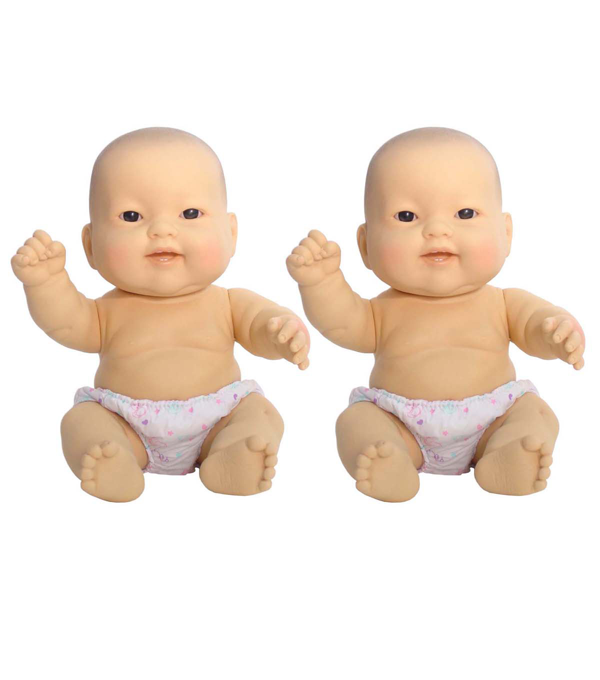 Lots to Love Babies, 10\u0022 Size, Asian Baby, Pack of 2