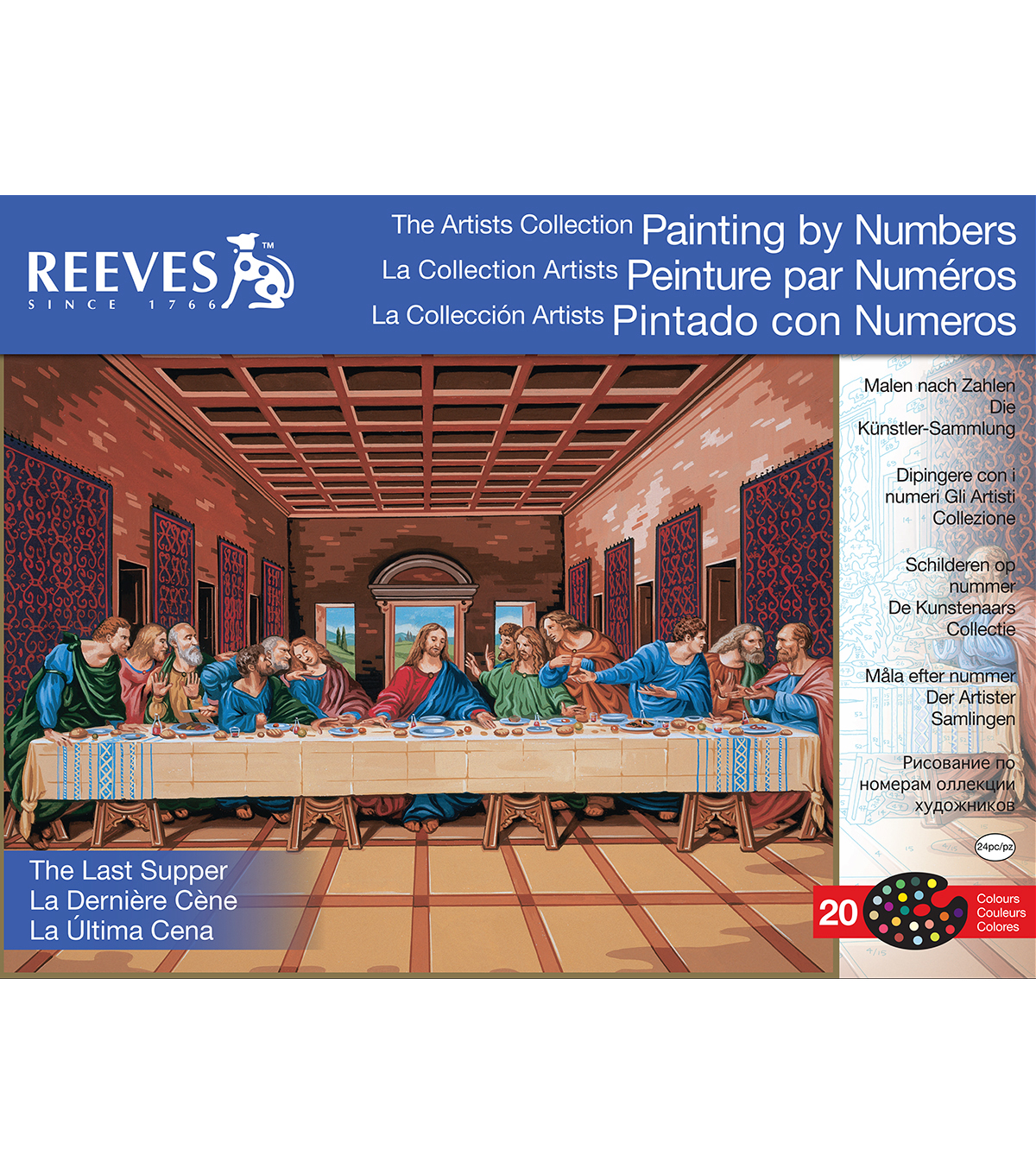 Reeves Artist\u0027s Last Supper Paint By Number Kit