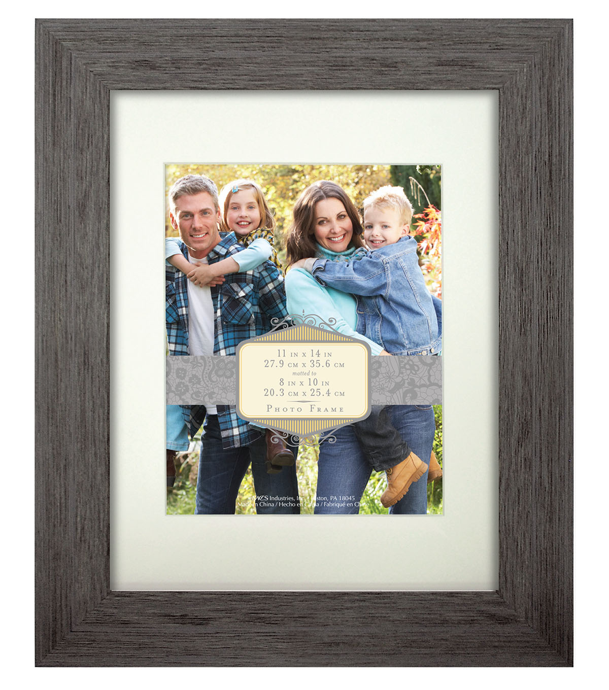 Wall Frame 11X14 To 8X10-Rustic Gray Blue