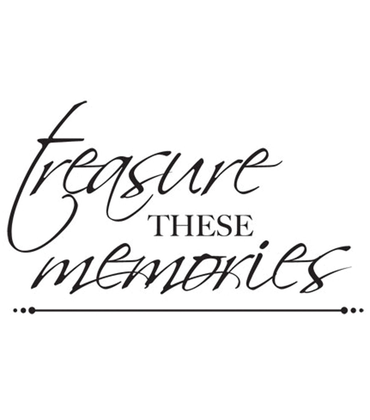3\u0022X5\u0022-Treasured Memories Words