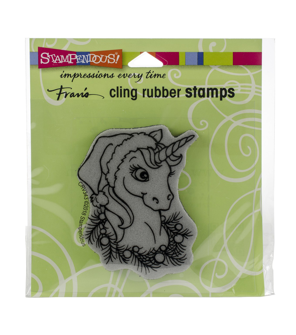Stampendous Cling Stamp -Unicorn Christmas