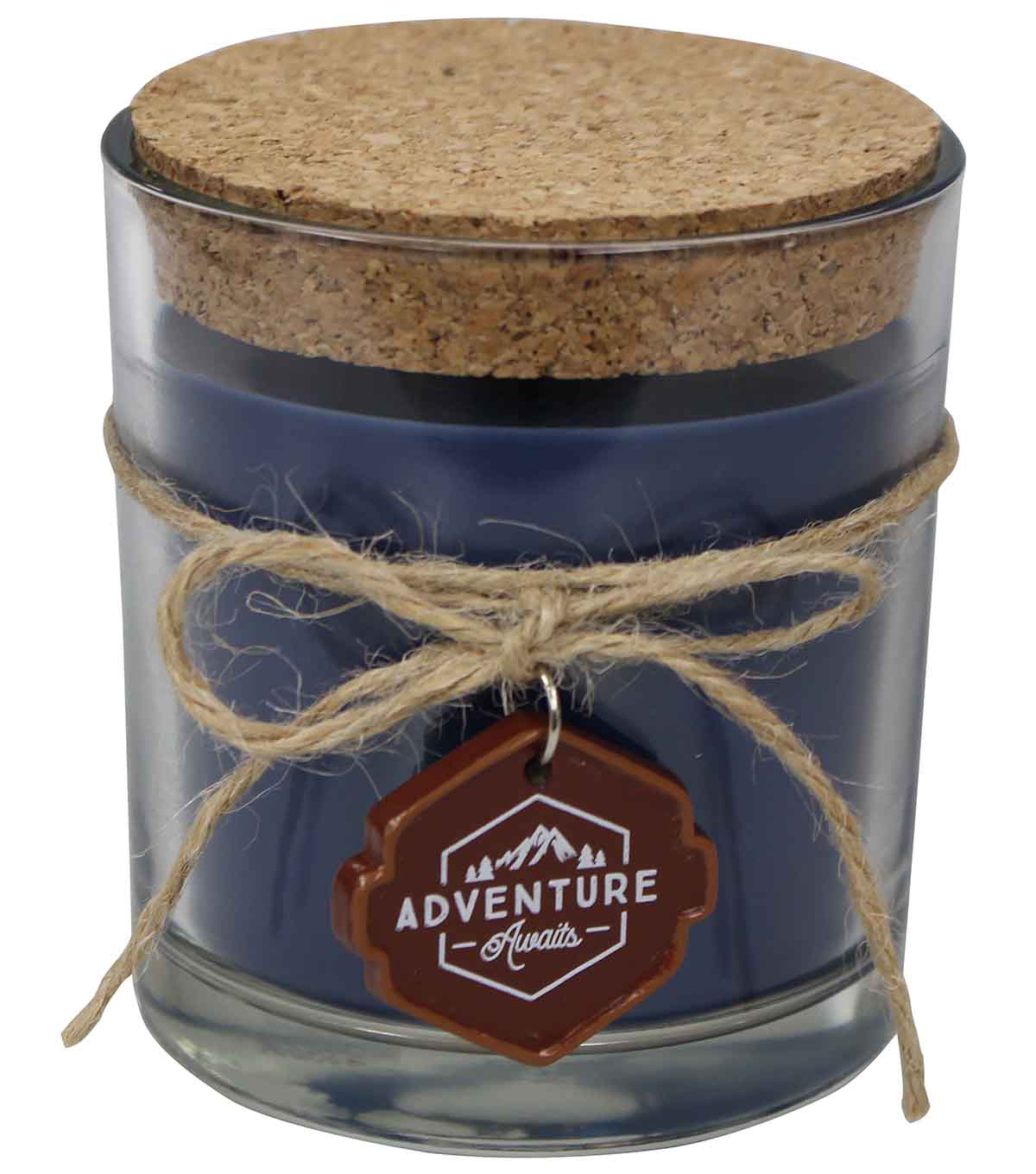 Camp Ann Toasted Marshmallow Candle with Charm & Cork Lid-Navy