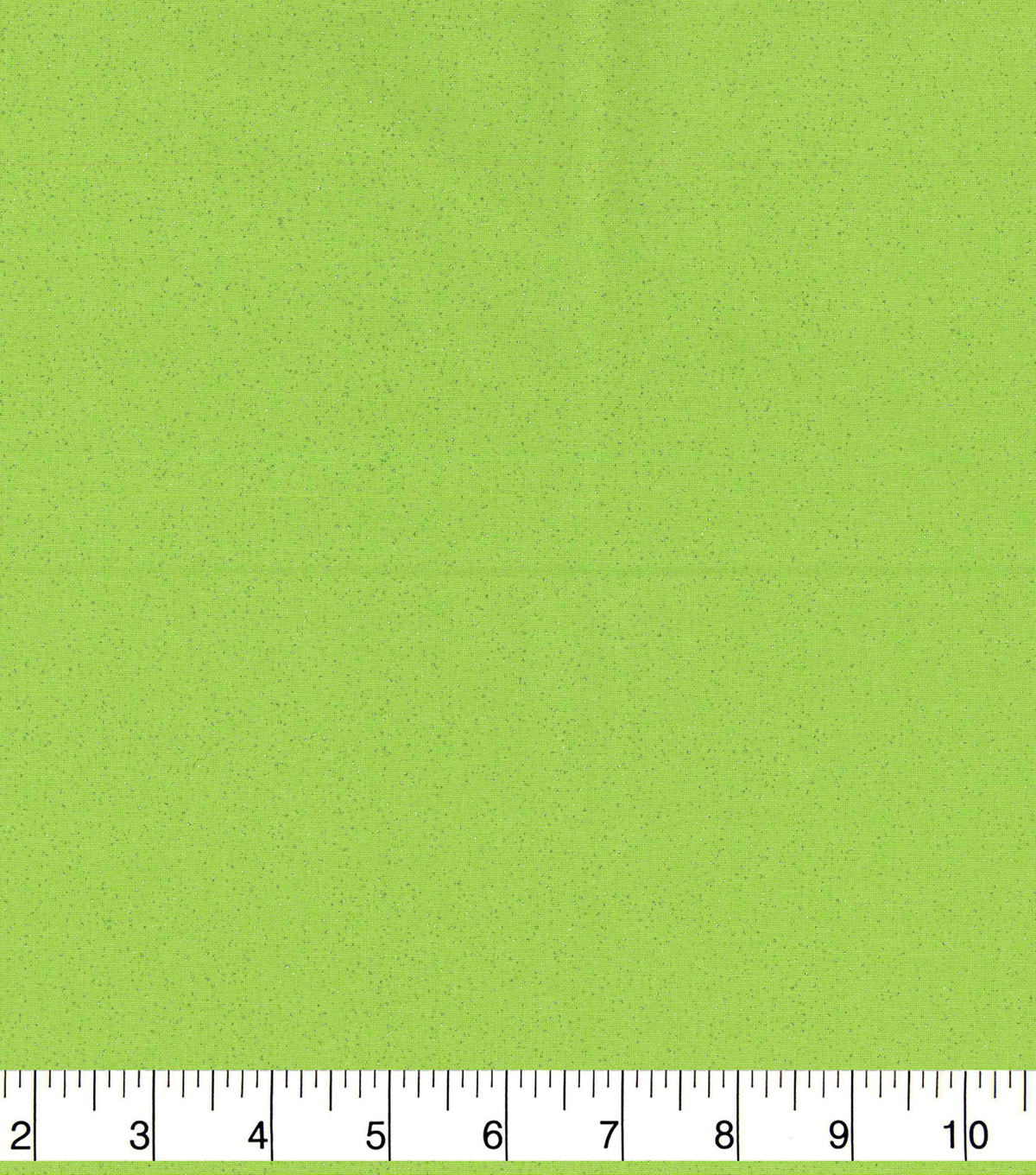 Keepsake Calico Cotton Fabric-Silver Glitter on Green