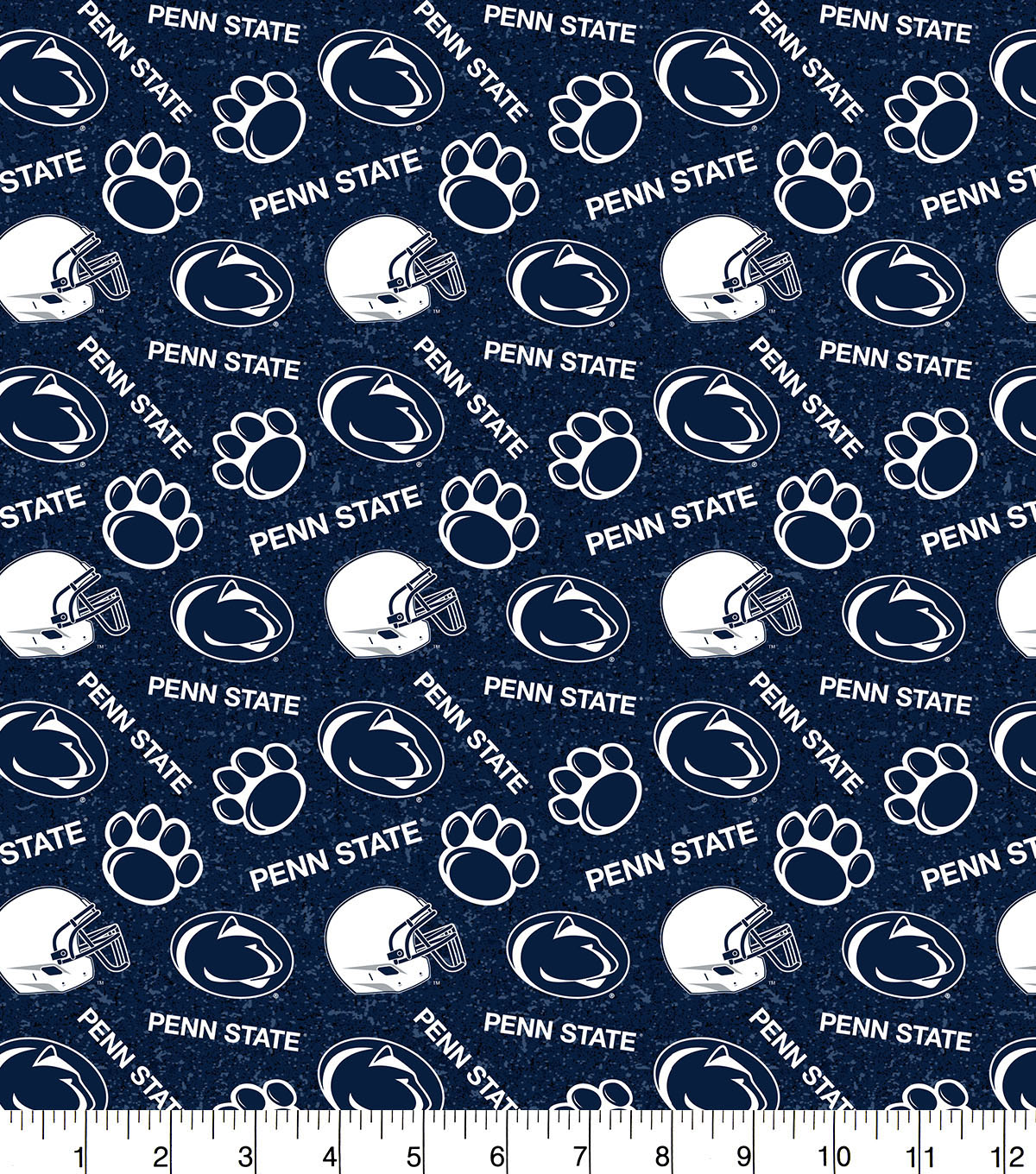 Penn State University Nittany Lions Cotton Fabric-Tone on Tone