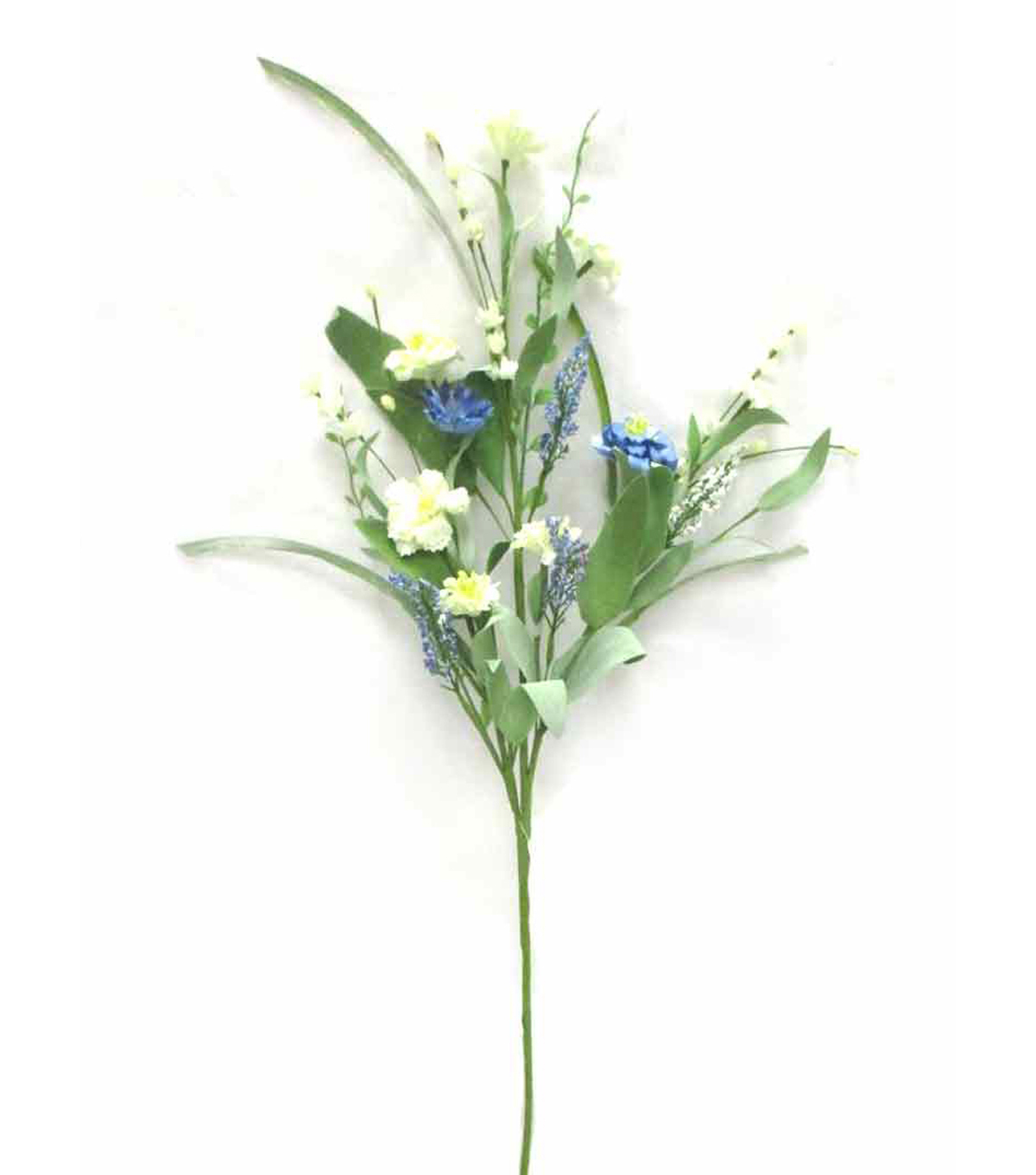 Fresh Picked Spring 30\u0027\u0027 Wildflower Mixed Spray-Ivory & Blue