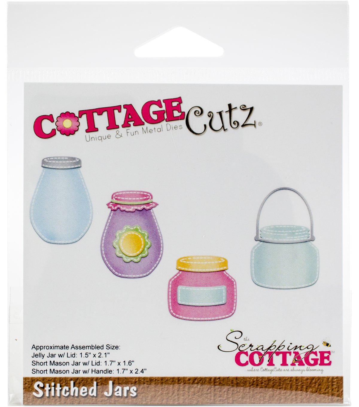 The Scrapping Cottage CottageCutz Dies-Stitched Jars