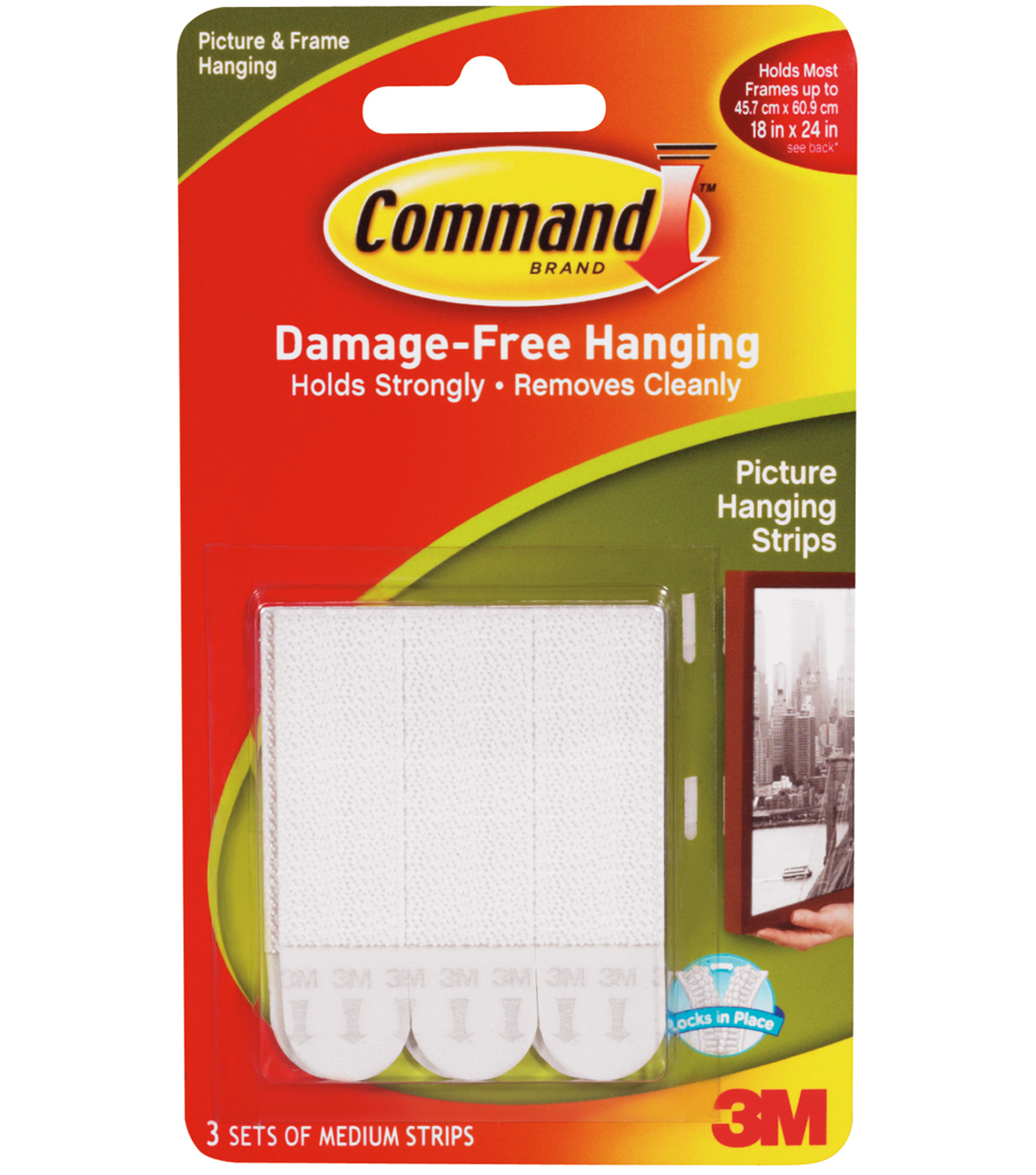 Command Medium Picture Hanging Strips 5x275 3 SetPkgWhite JOANN