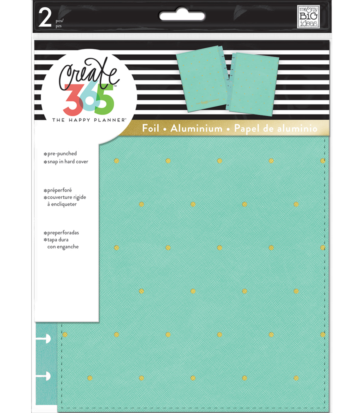 The Happy Planner Classic Snap-In Hard Cover Planner-Sky Blue