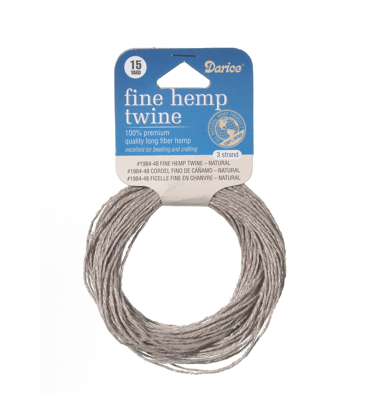 3 Stned Fine Twine Natural 15Yds