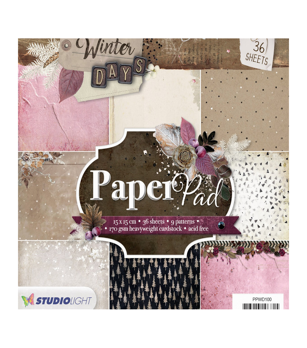 Studio Light Winter Days 36-sheet 6\u0027\u0027x6\u0027\u0027 Paper Pad