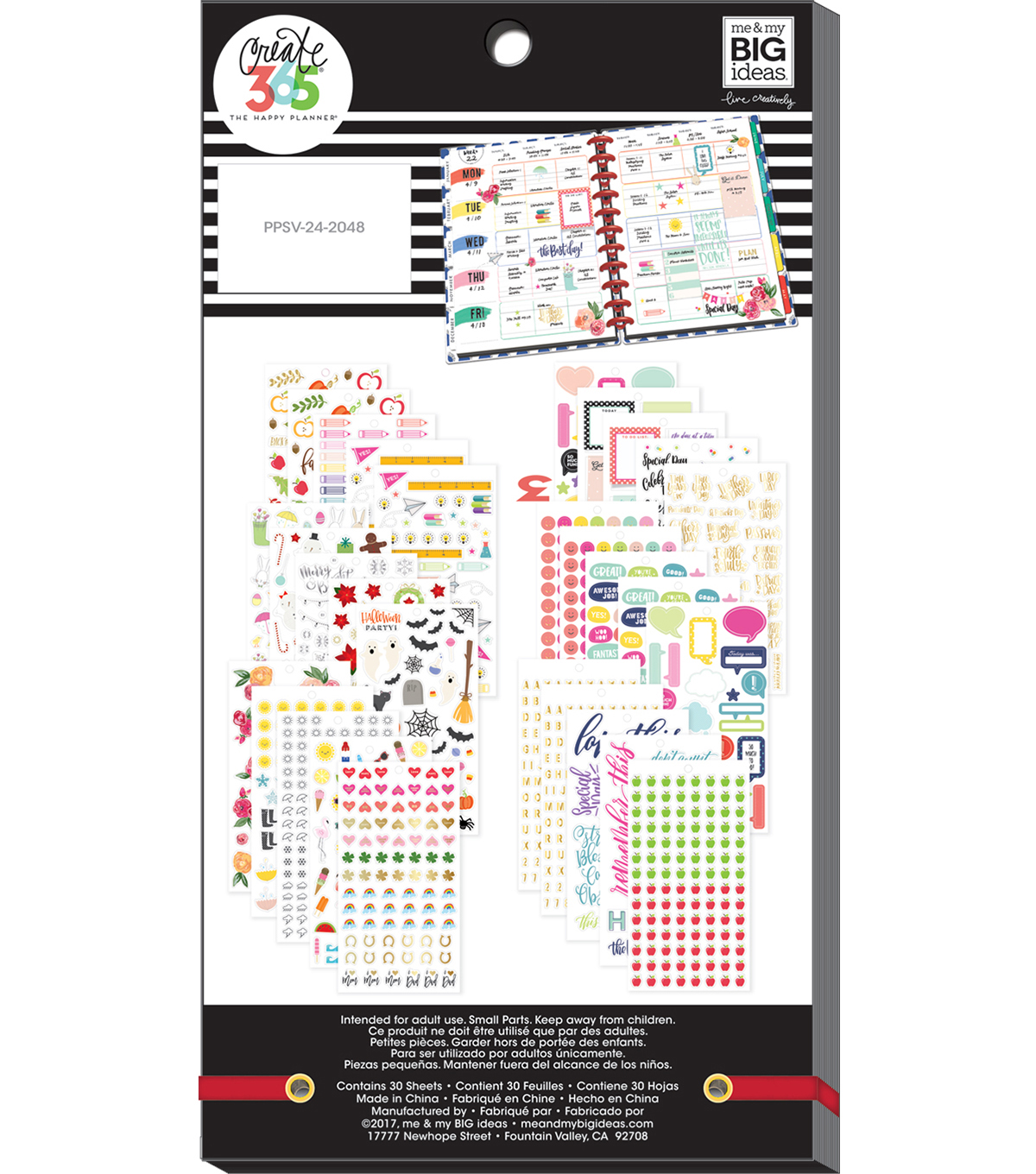 The Happy Planner Value Pack Stickers-Seasonal