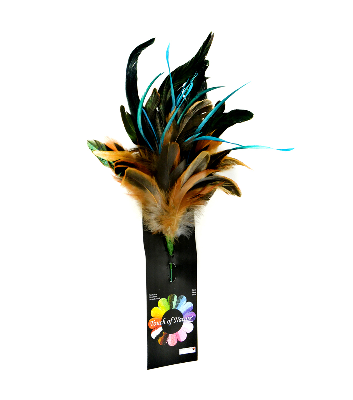Bloom Room 11\u0022 Feather Floral Spray-Naturals