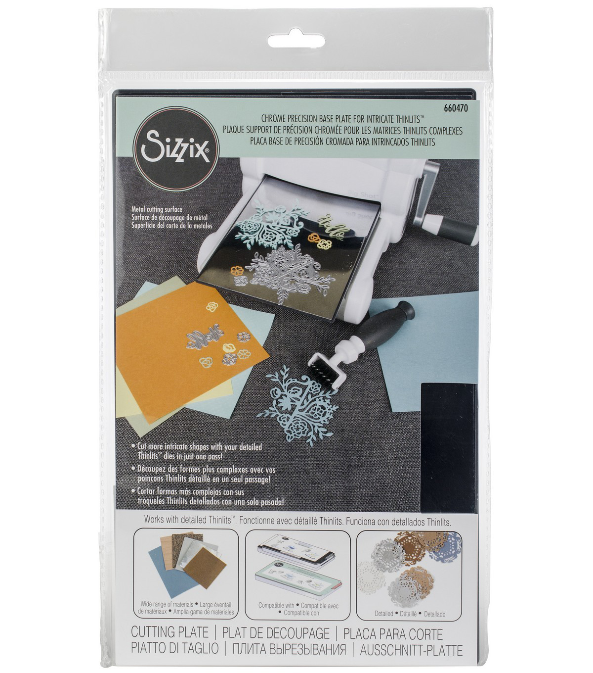 Sizzix Chrome Precision Base Plate For Intricate Thinlits-