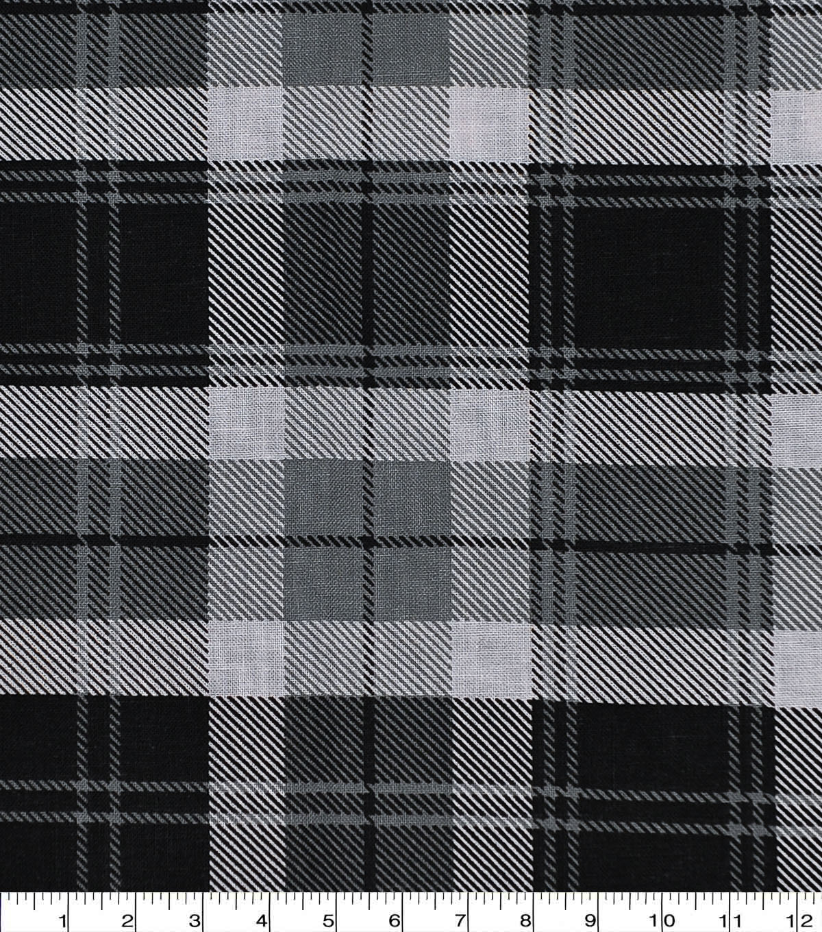 Harvest Cotton Fabric-Black Harvest Plaid