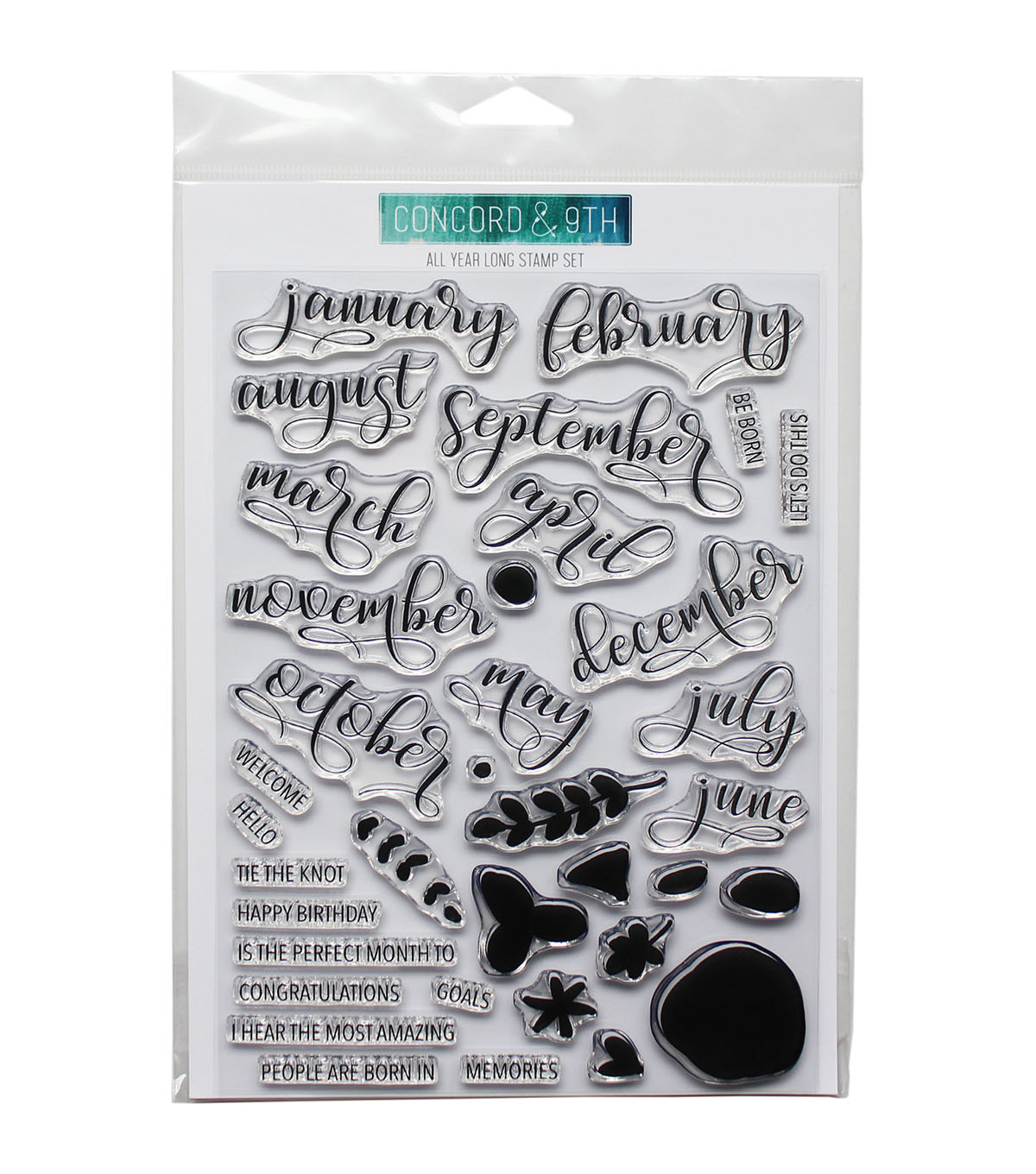 Concord & 9th 36 pk Clear Stamps-All Year Long