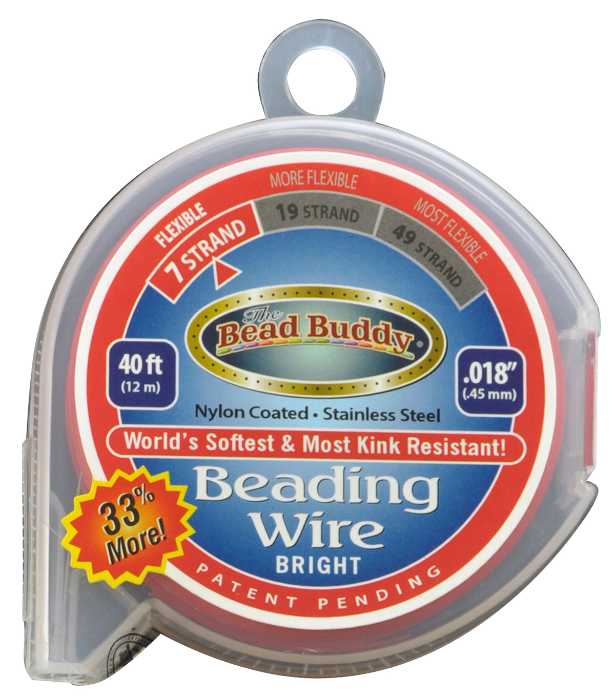 The Bead Buddy 7-Strand 30\u0027x 0.018\u0027\u0027 Beading Wire
