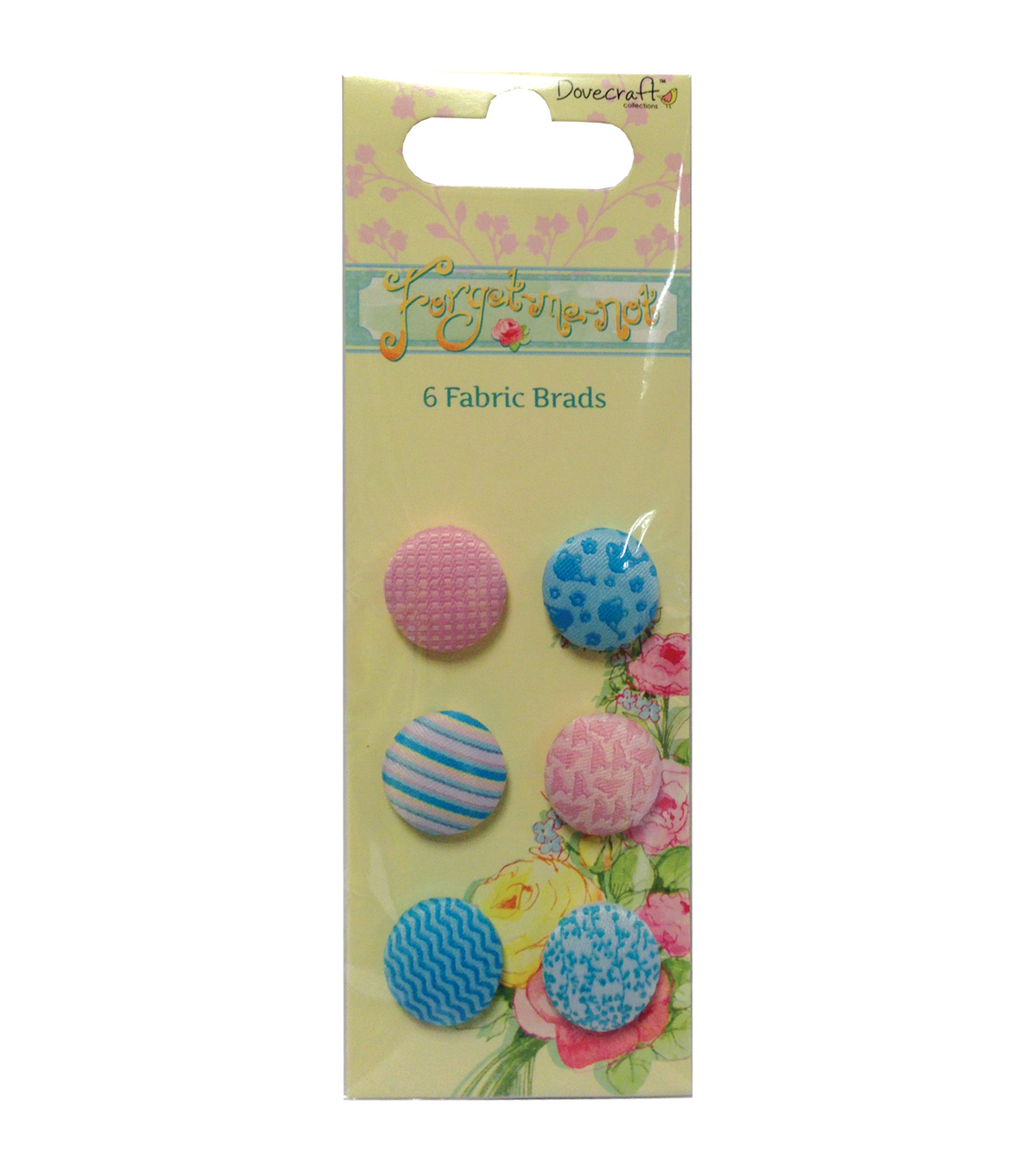 Forget-Me-Not Fabric Brads-