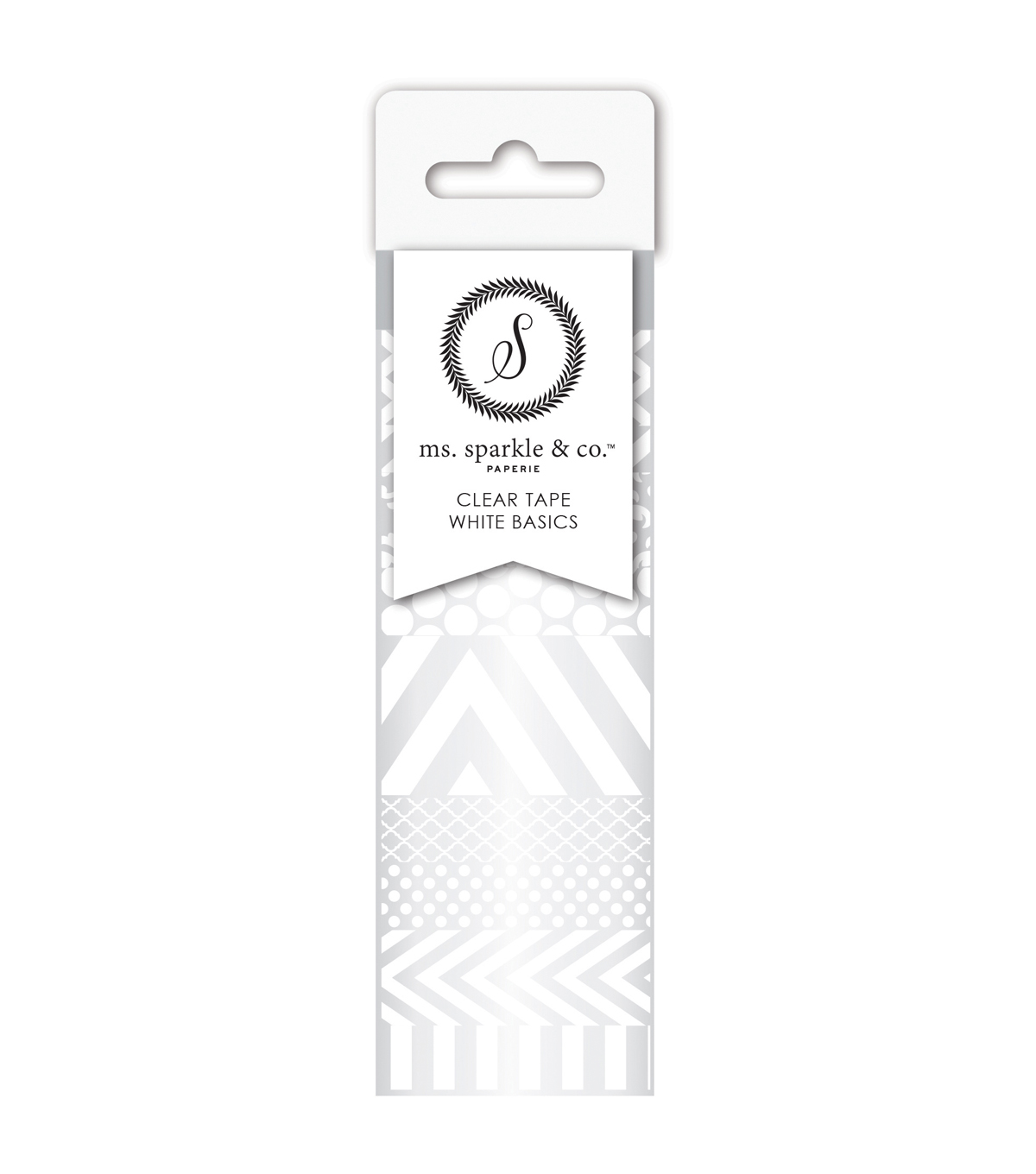 Ms. Sparkle & Co. 10 pk Washi Tapes-White & Clear