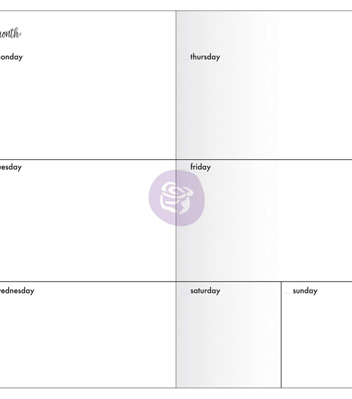 Traveler\u0027s Journal Notebook Refill 32 Sheets-Weekly w/White Paper