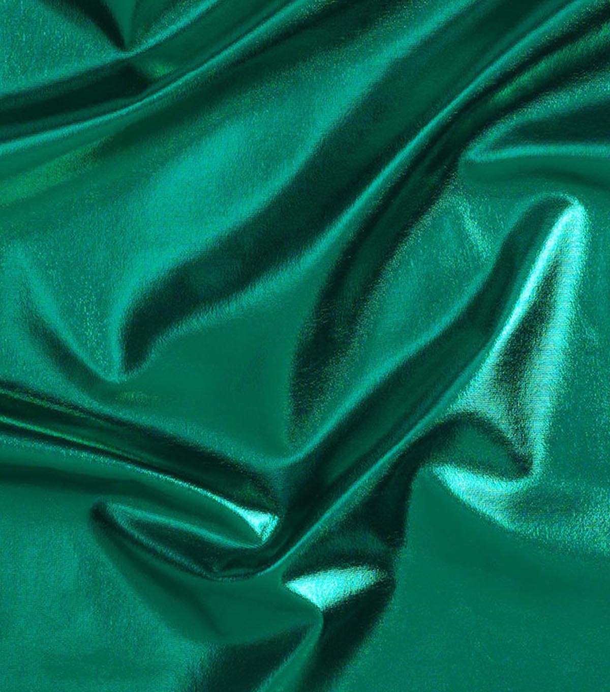 Cosplay by Yaya Han 4-Way Metallic Fabric 59\u0022-Metallic Emerald