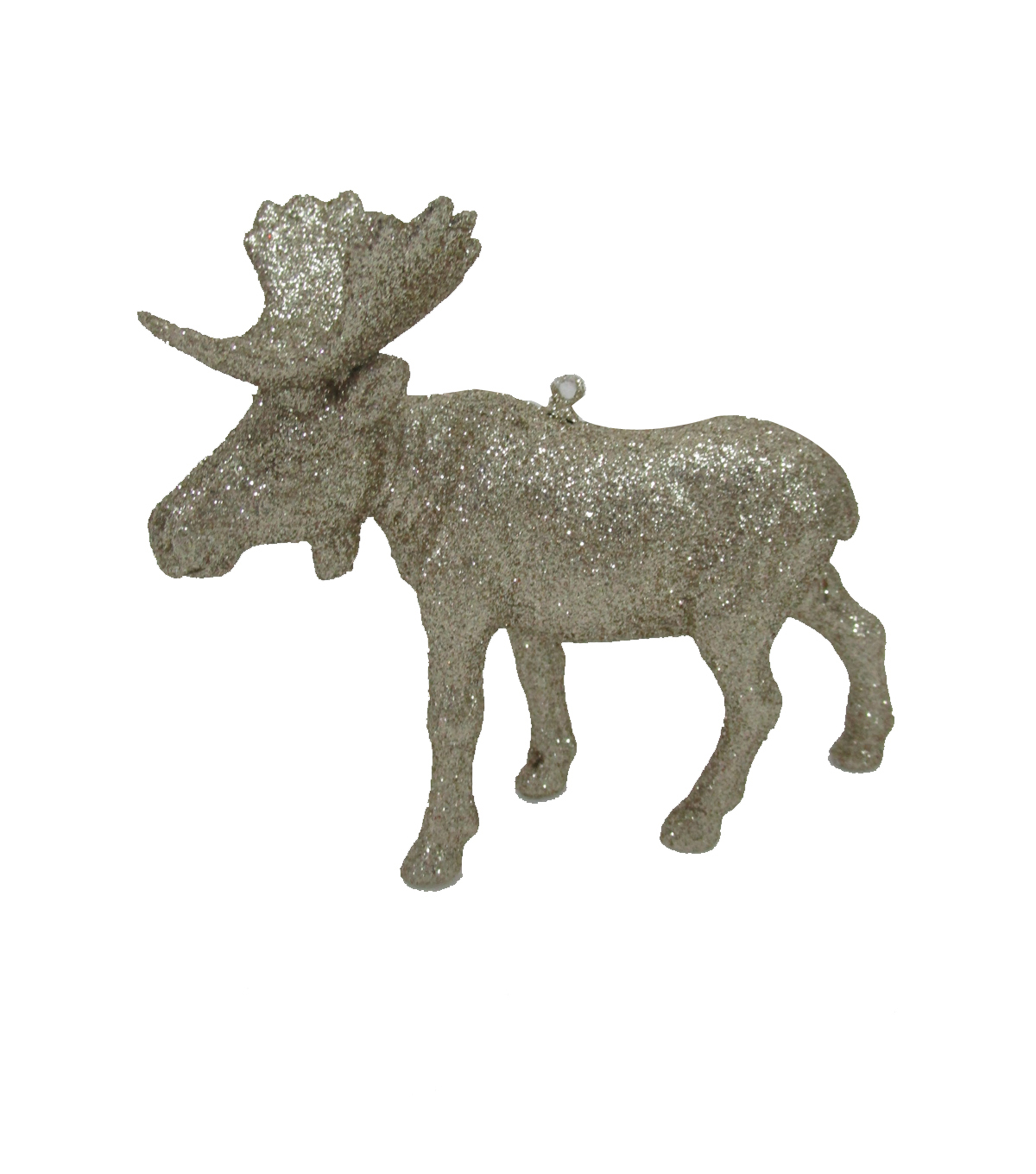 Maker\u0027s Holiday Christmas Glistening Pines Glitter Moose Ornament
