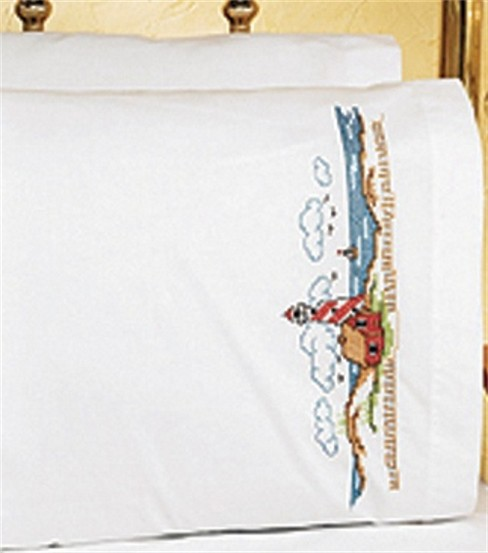Janlynn Lighthouse Pillowcase Pair Stmpd X-Stitch Kit