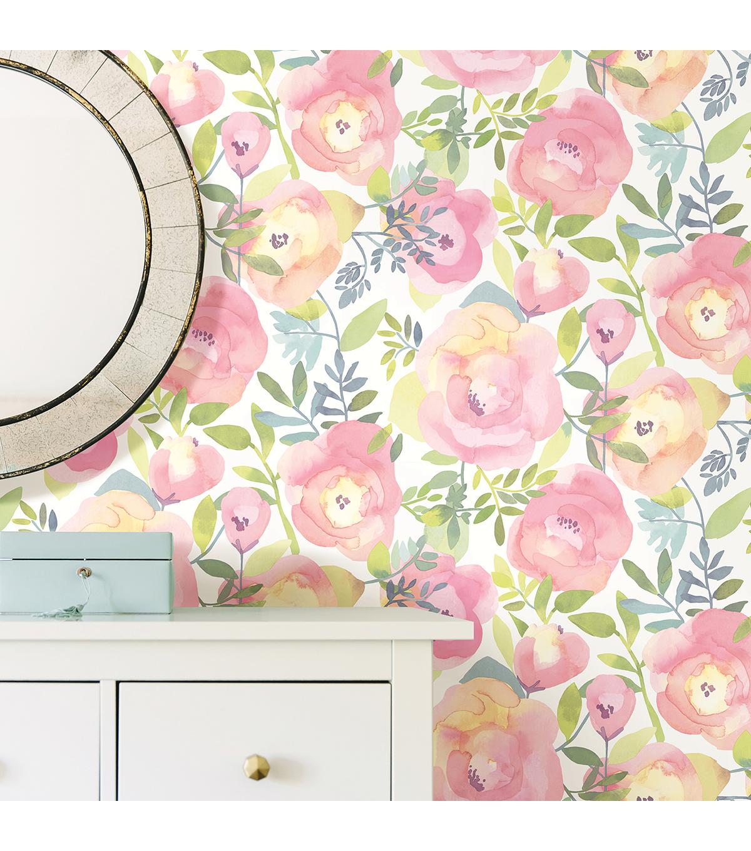 Wallpops Peel Stick Wallpaper Peachy Keen Pink Joann