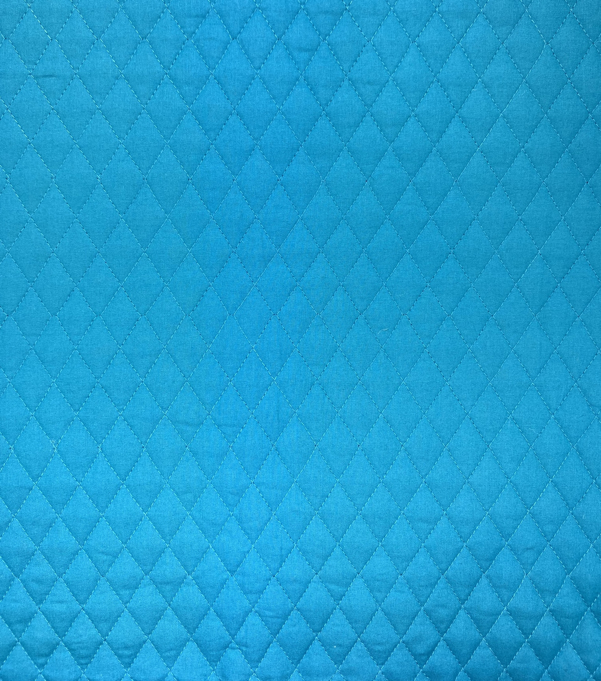 Double Faced Pre-Quilted Cotton Fabric -Diamond Solids, Dark Teal