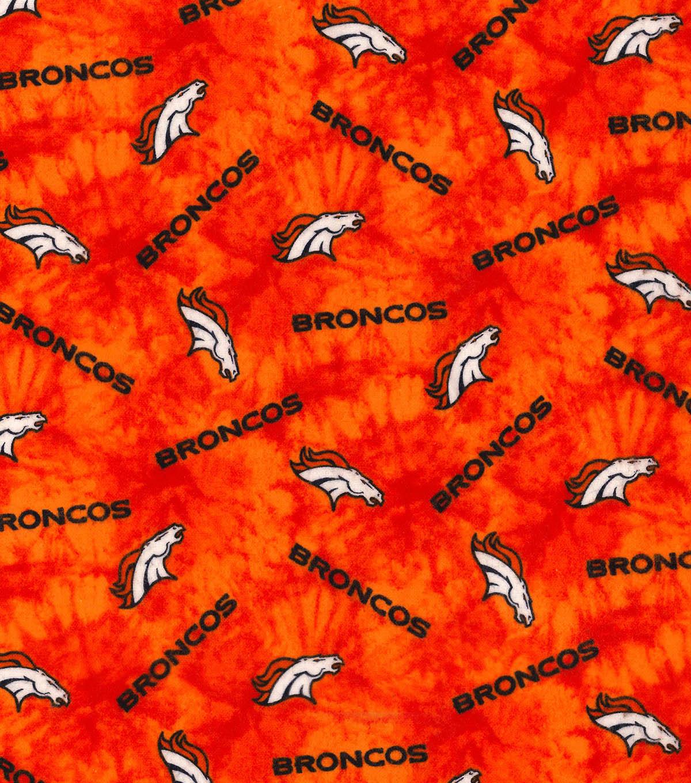 "Denver Broncos Flannel Fabric 42""-Tie Dye"