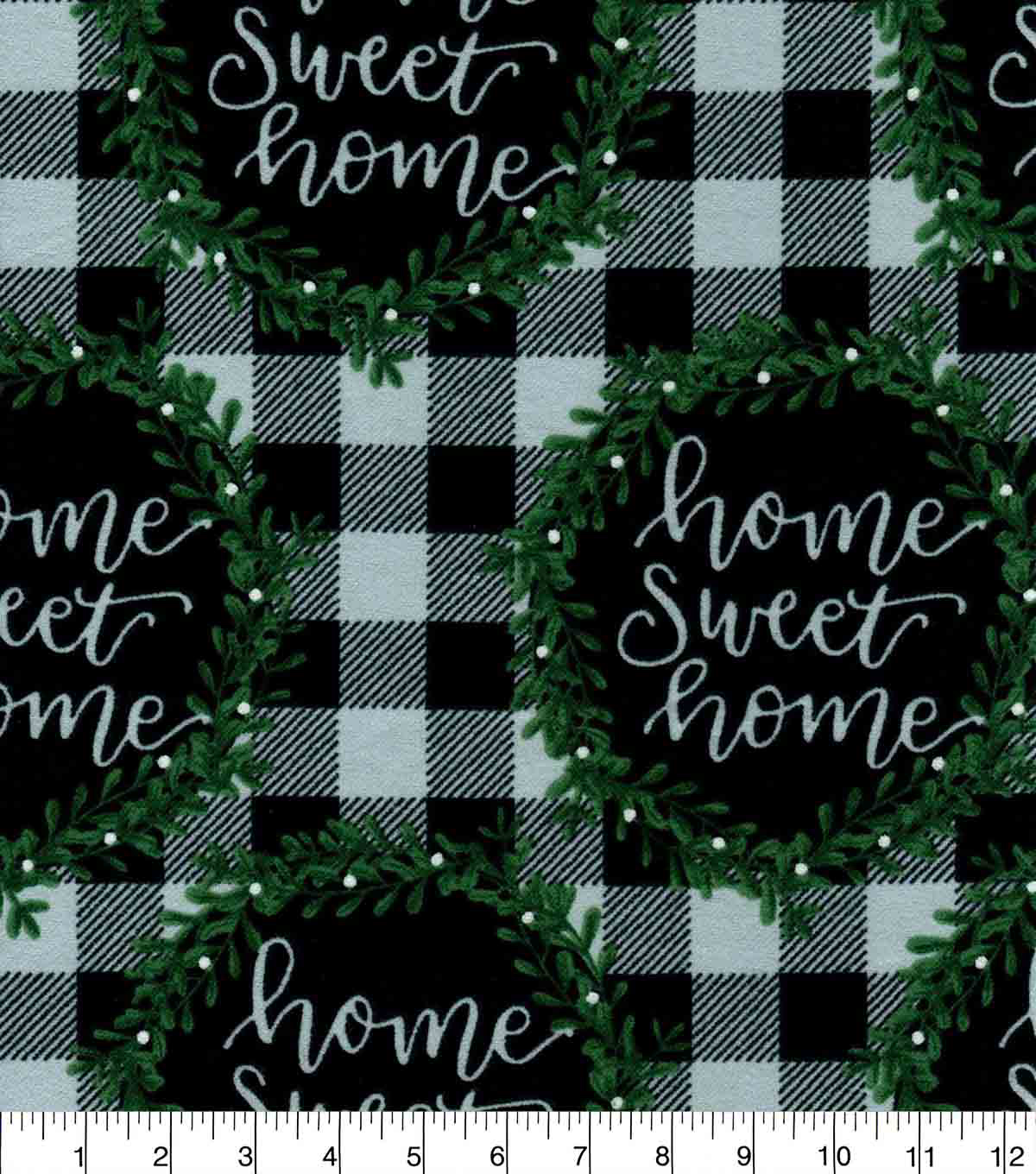 Snuggle Flannel Fabric-Home Sweet Home