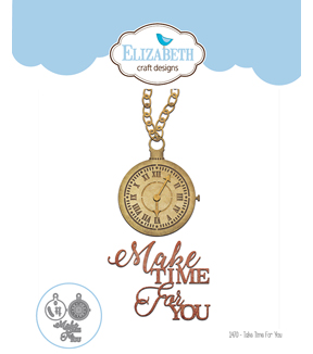 Elizabeth Craft Designs 6 pk Metal Dies-Take Time For You